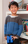Colour-Block Crochet Jumper 100px