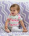 Fuzzy Ripple Baby Blanket 100px