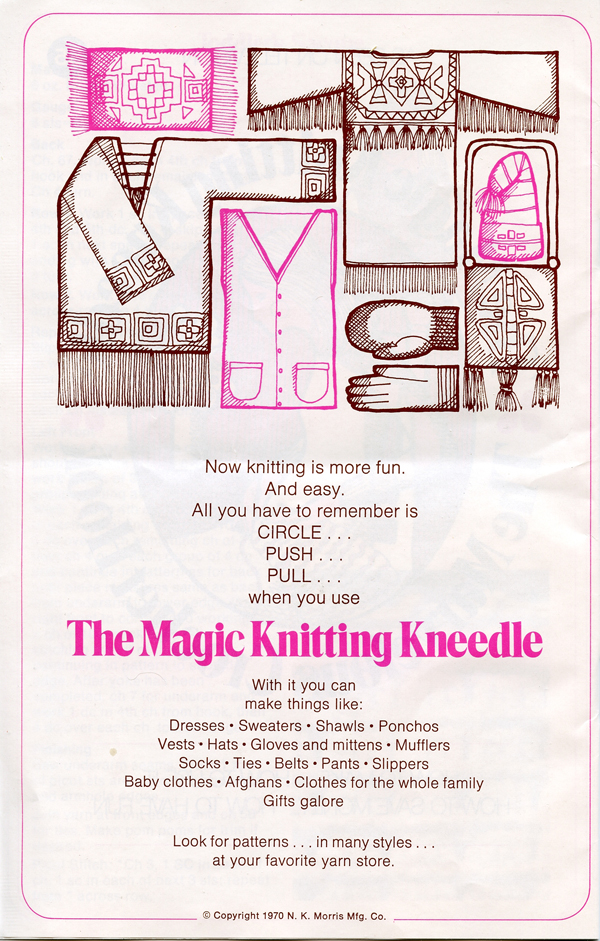 Magic Knitting Kneedle instruction book p 2 600px