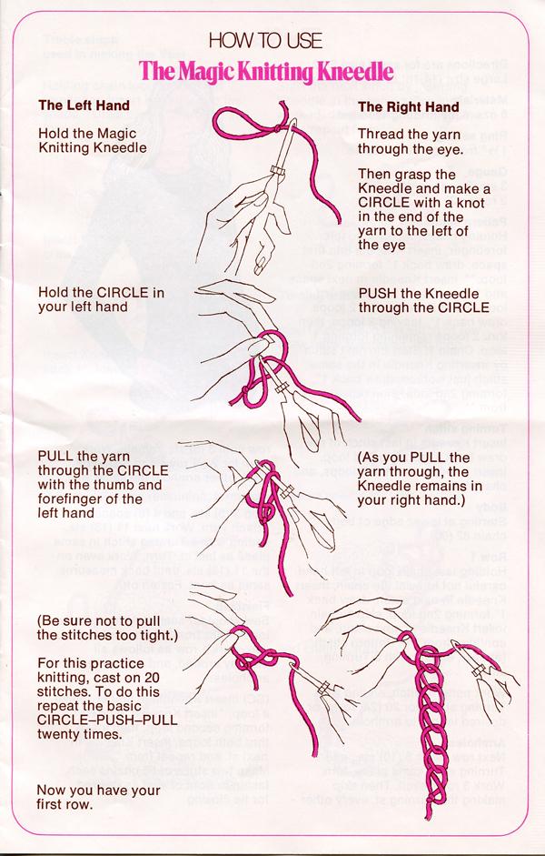 Magic Knitting Kneedle instruction book p 3 600px