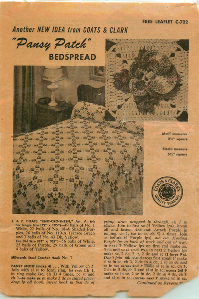 Pansy Patch Bedspread